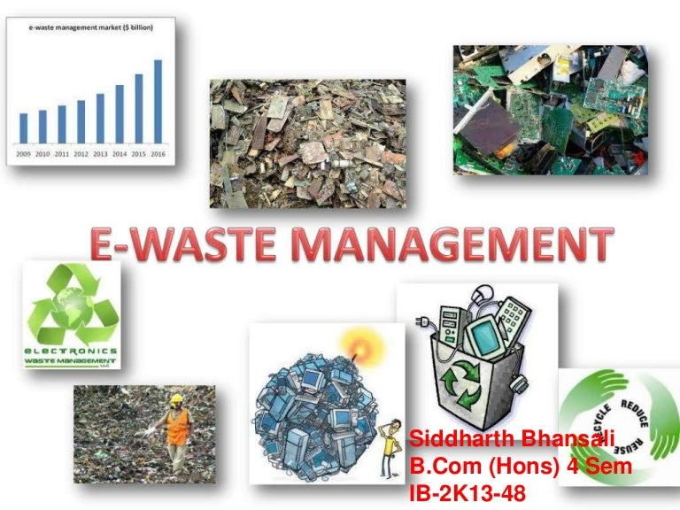 E waste and management toneelgroepblik Image collections