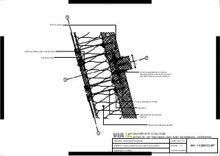 A N - 1 5 (205 01)007Curtain wall and concrete plan section detail 2