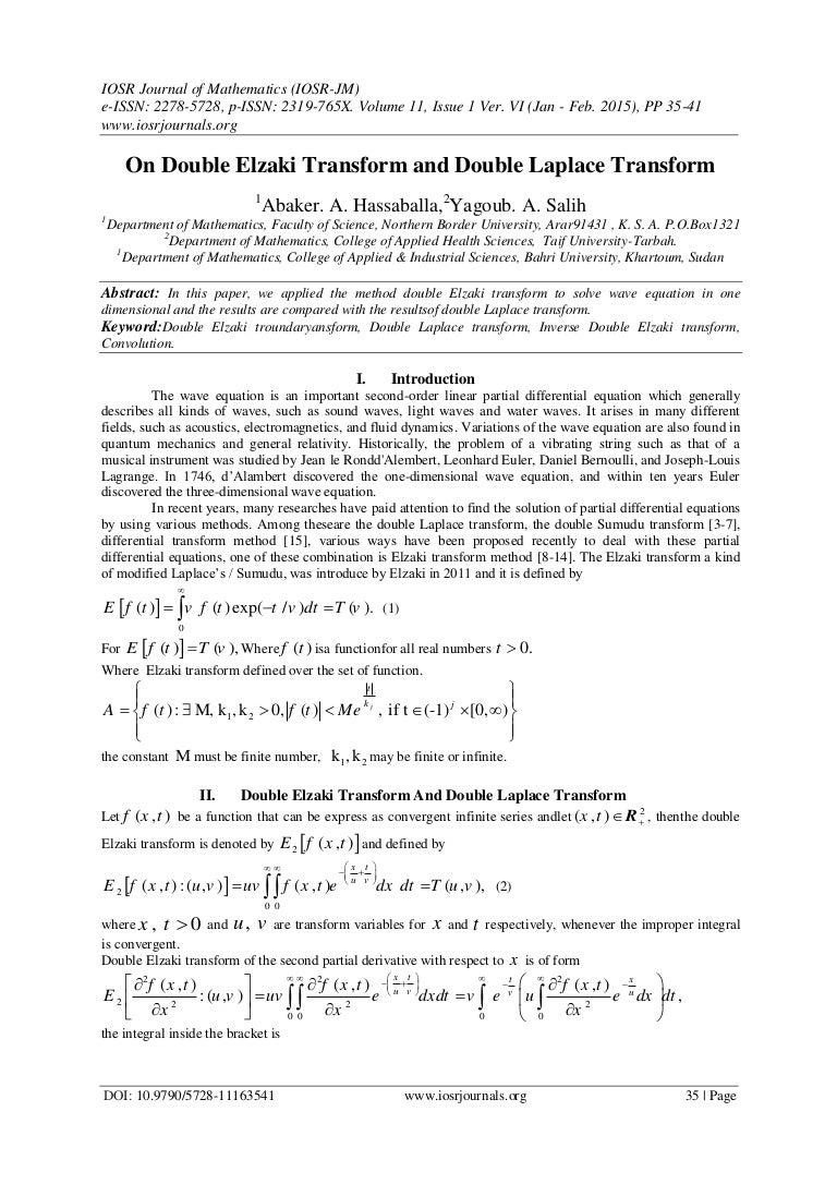 On Double Elzaki Transform and Double Laplace Transform