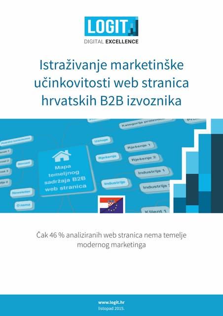 Istraživanje marketinške učinkovitosti web stranica hrvatskih B2B izvoznika