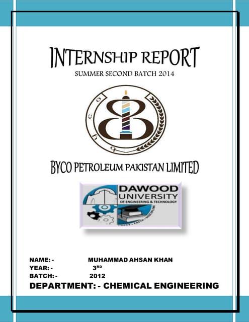 BYCO INTERNSHIP REPORT