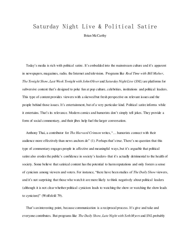 What Is A Thesis Of An Essay  Thesis For Essay also Computer Science Essay Essay Snl  Political Satire Proposal Essays