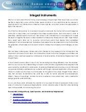 E11 Integral Instruments CHE