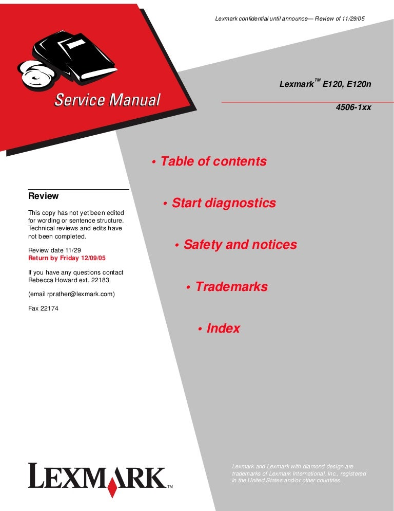 Lexmark e120 printer manual by ppetw19 issuu.