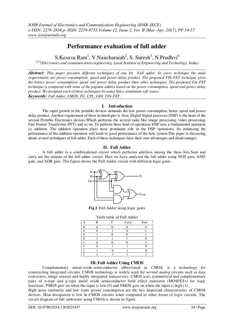 Performance Evaluation Of Full Adder Logic Diagram Xor Gate E1202023437 170704053011 Thumbnail 4cb1499146349