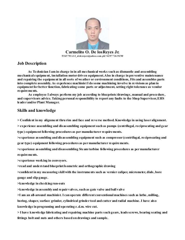 mechanical technician  1