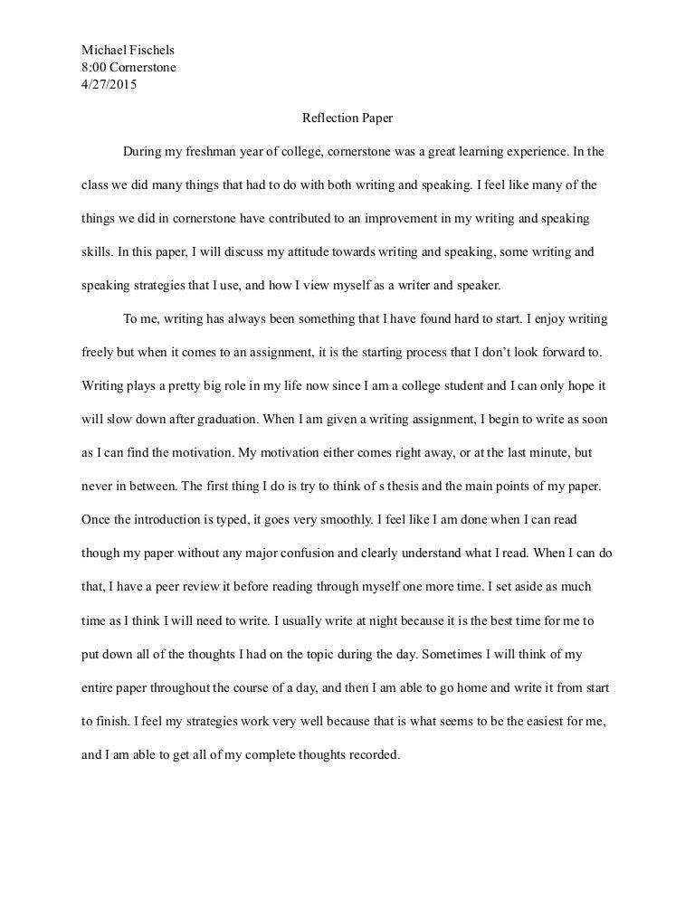 My Freshman Year High School Essay