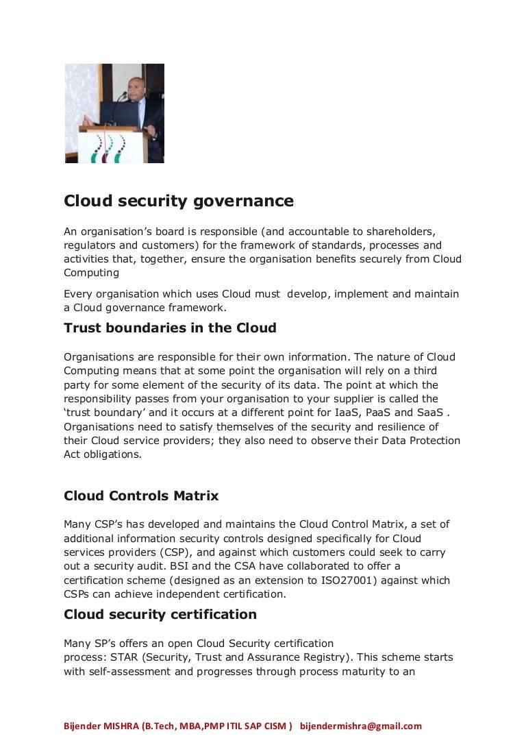 Cloud Security Governance