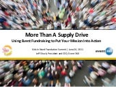 More Than A Supply Drive:Using Event Fundraising to Put Your Mission Into Action