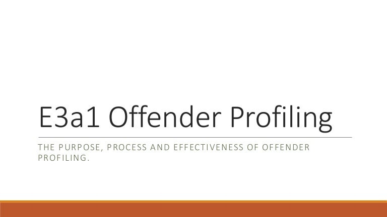 ea offender profiling