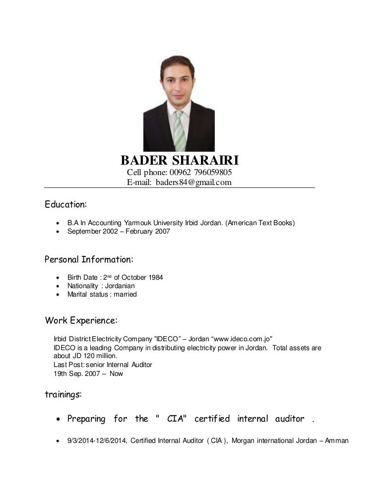 BADER SHARAIRI-senior internal auditor - resume