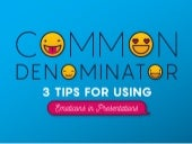 Common Denominator: 3 Tips for Using Emoticons in Presentations