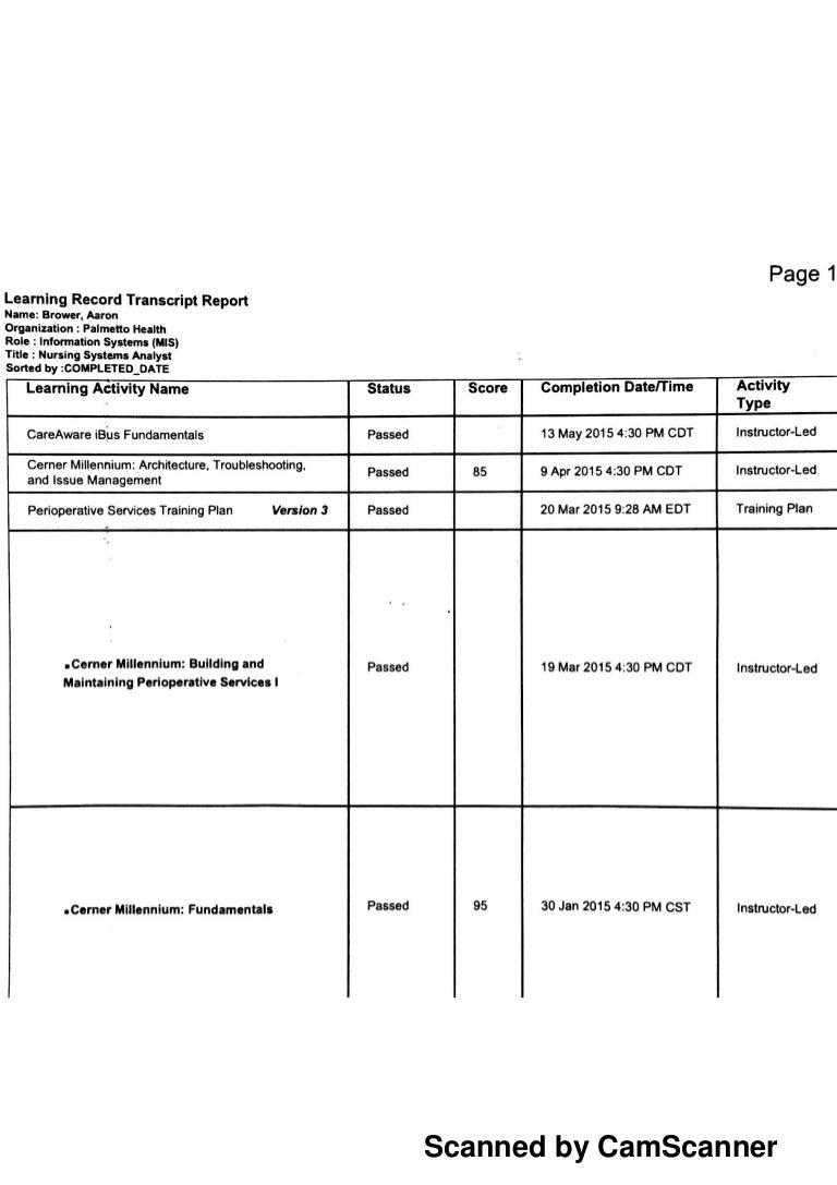 cerner certifications