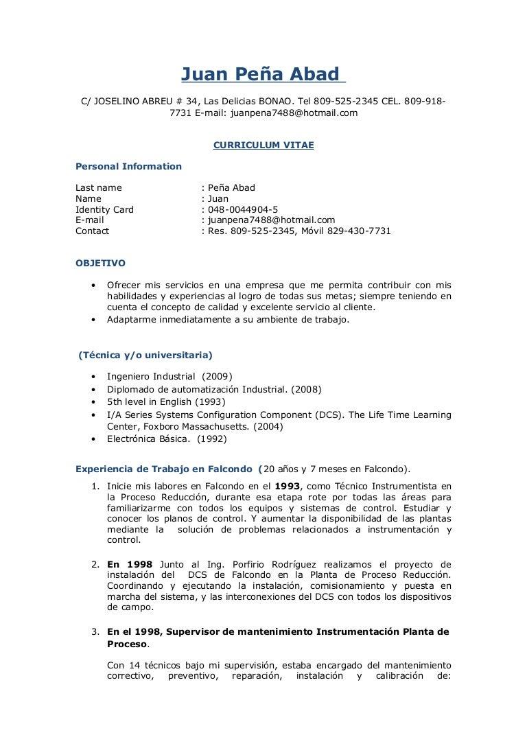 CV Juan Pena A