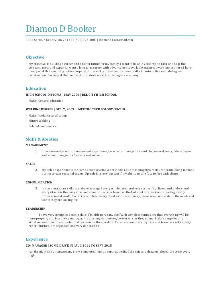 Diamon's Resume