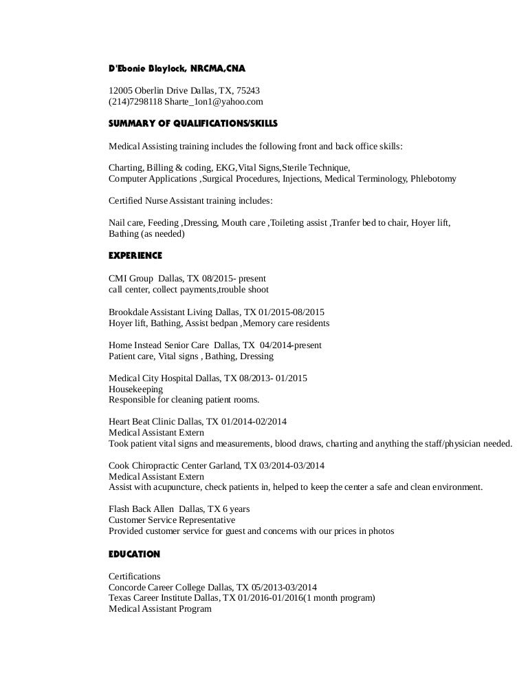 Fantástico Certificación De La CNA Dallas Tx Inspiración ...