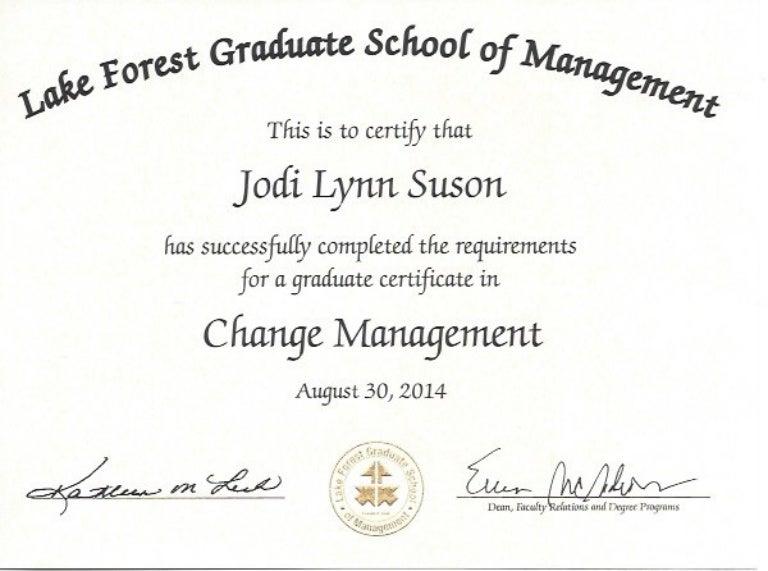 change certificate management