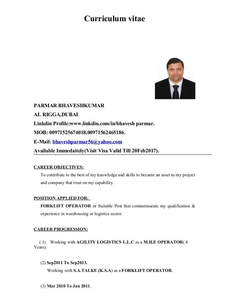 Visit Visa Resume