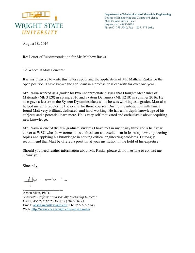 Reference Letter from Prof  Mian