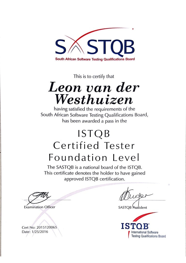 Istqb certified tester foundation level certificate xflitez Images