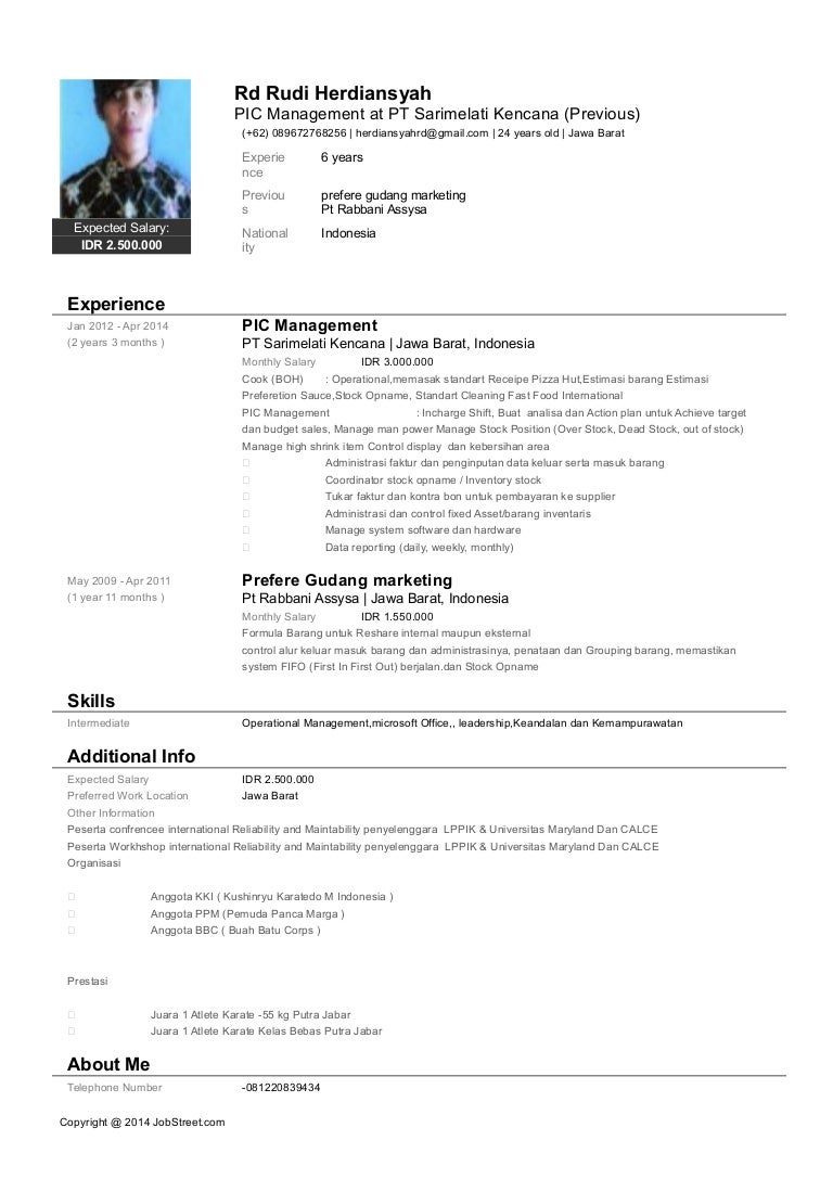 Fantastic Edit Resume Jobstreet Indonesia Ideas - Entry Level Resume ...