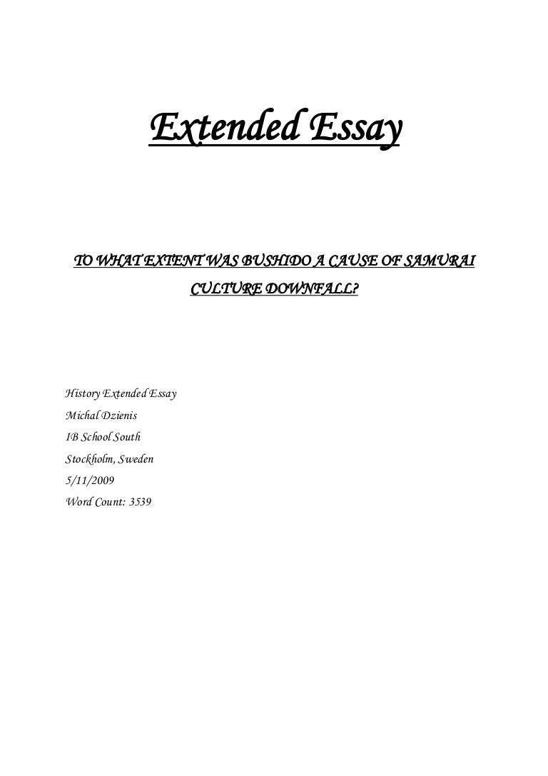 extended essay ib school south - History Extended Essay Example