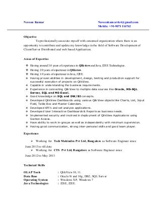 qlikview developer linkedin