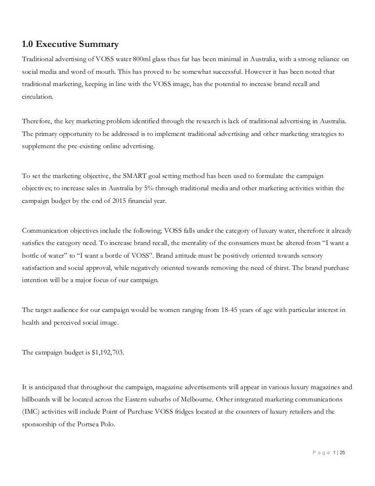 VOSS Water Final Report