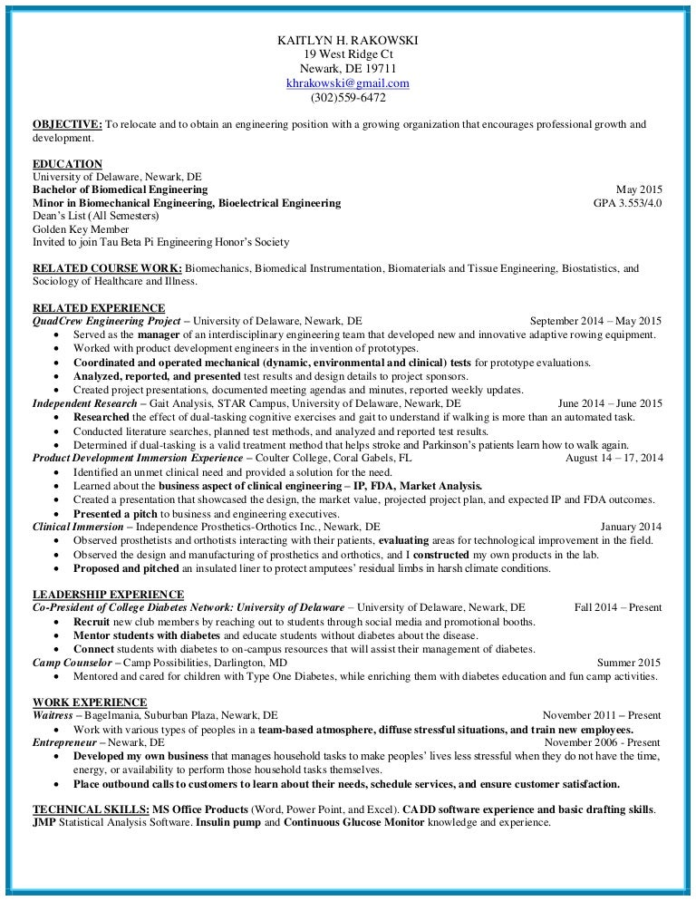 Enchanting Orthopedic Engineering Resume Gallery - Resume Ideas ...