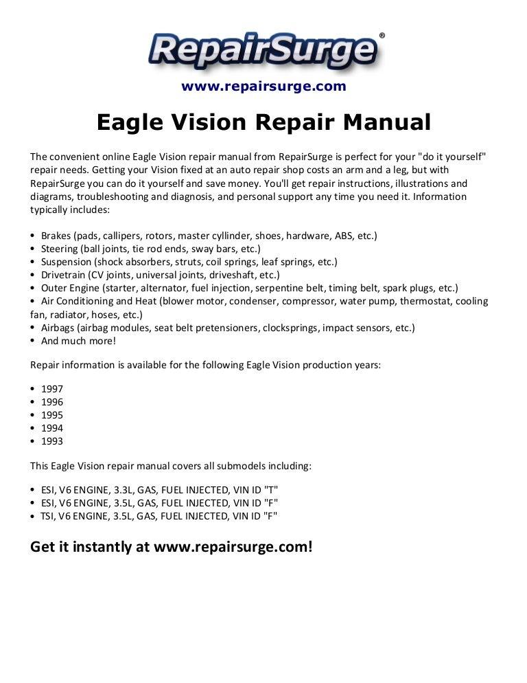 95 Eagle Vision Wiring Diagram | Wiring Diagram on 97 eagle vision, 1994 eagle vision, 1993 eagle vision, 1995 eagle vision, 96 eagle vision,