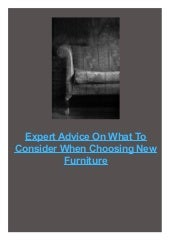 Expert Advice On What To Consider When Choosing New Furniture