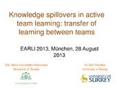Knowledge spillovers in active team learning