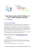 Early intervention autistic children   is your toddler diagnosed autistic