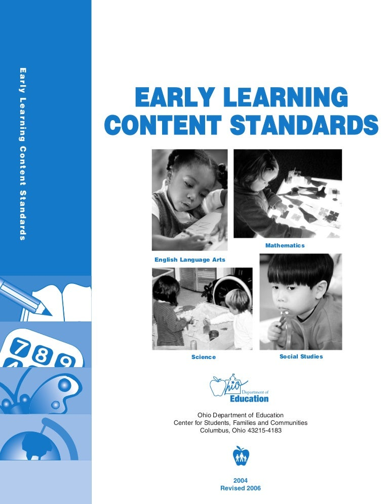 Early learning content standards of Ohio