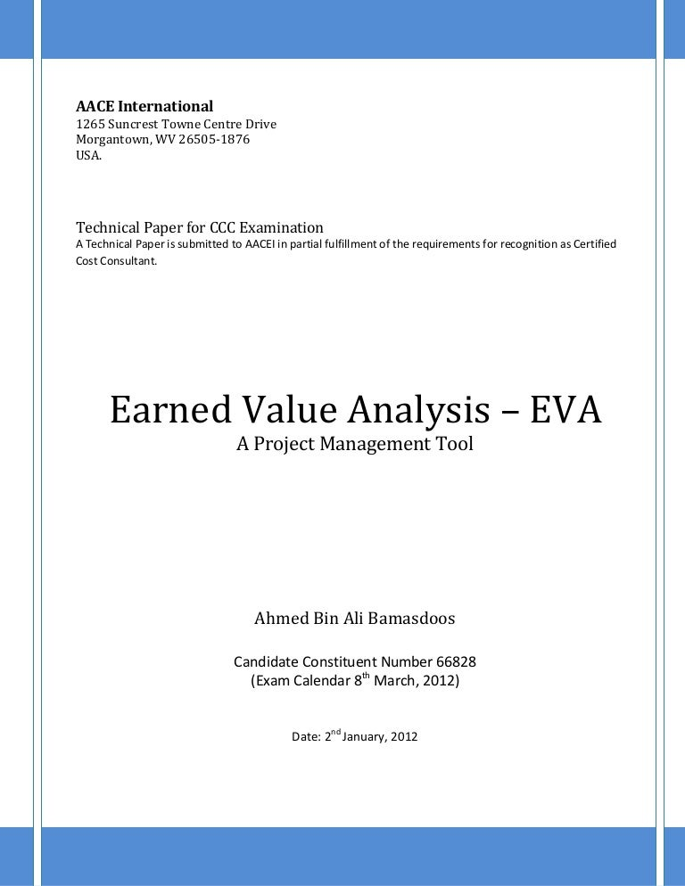 Earned Value Analysis - Eva