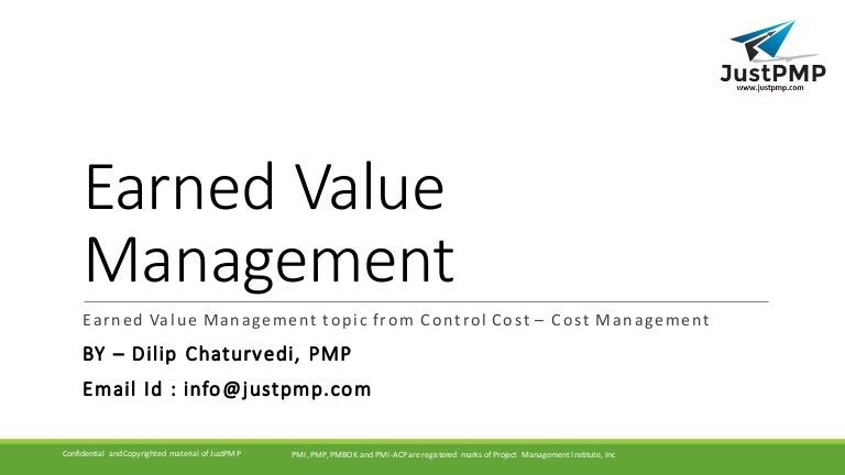 earned value management tutorial module 7