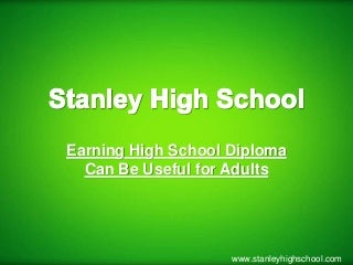 Earning High School Diploma Can Be Useful for Adults