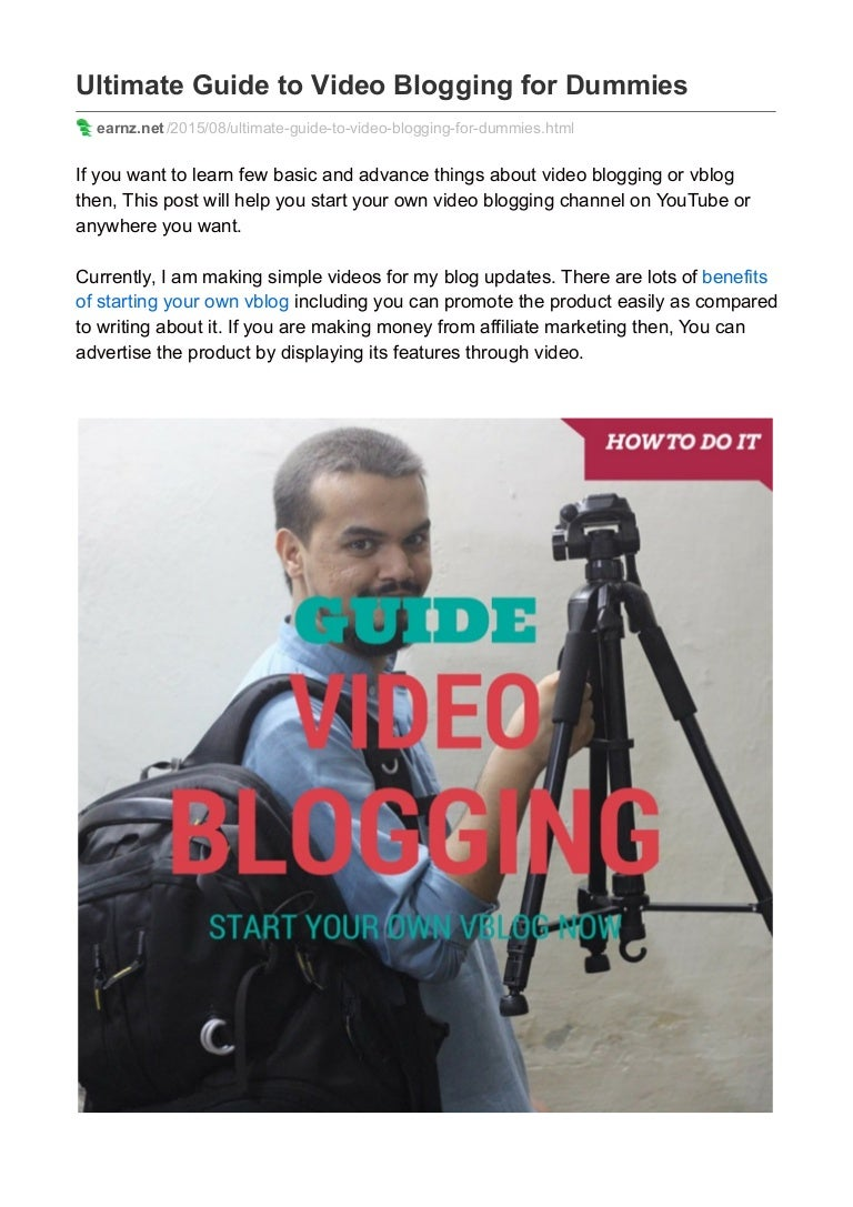 writing a blog for dummies