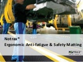 Notrax Ergonomic Anti-fatigue & Safety Matting - Benefits of Anti-fatigue Mats
