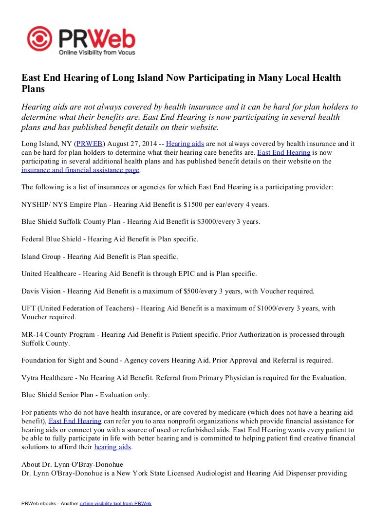 East End Hearing of Long Island Now Participating in Many Local Healt…