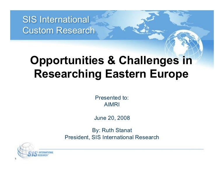 Eastern Europe Market And Country Profile Sis International Research