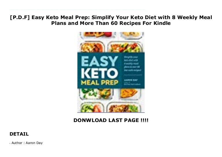 P D F Easy Keto Meal Prep Simplify Your Keto Diet With 8 Weekly Me