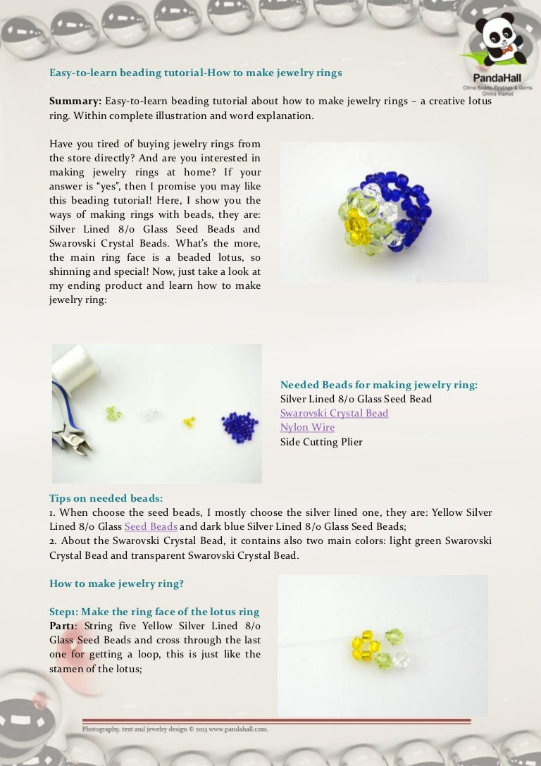 Easy to-learn beading tutorial-how to make jewelry rings