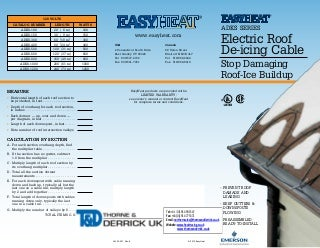 EasyHeat ADKS-100 Heat Tracing Cable Kit - Brochure