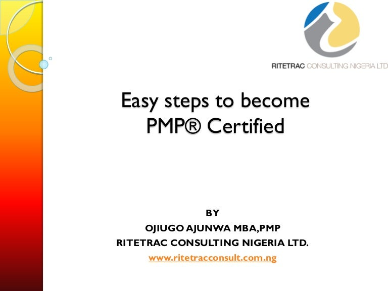 easy steps to become pmp certified