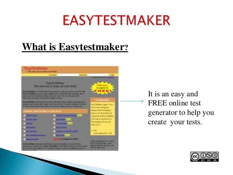 Easy testmaker
