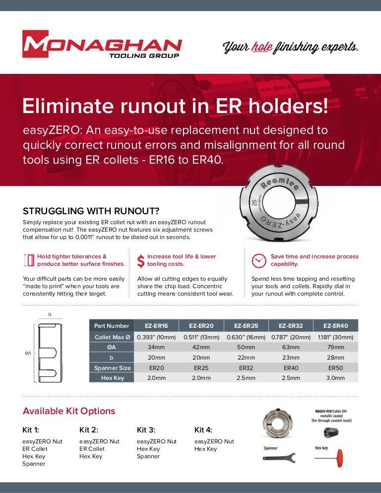 """1/"""" ER-40 Round Collet"""