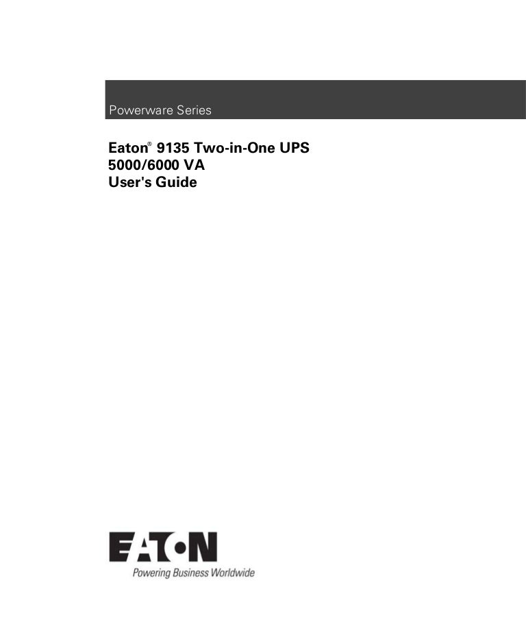Eaton 9135 ups_users_guide