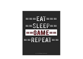 E-BOOK_KINDLE LIBRARY Eat Sleep Game Repeat 6 x 9 100 Page Lined Journal *full_pages*