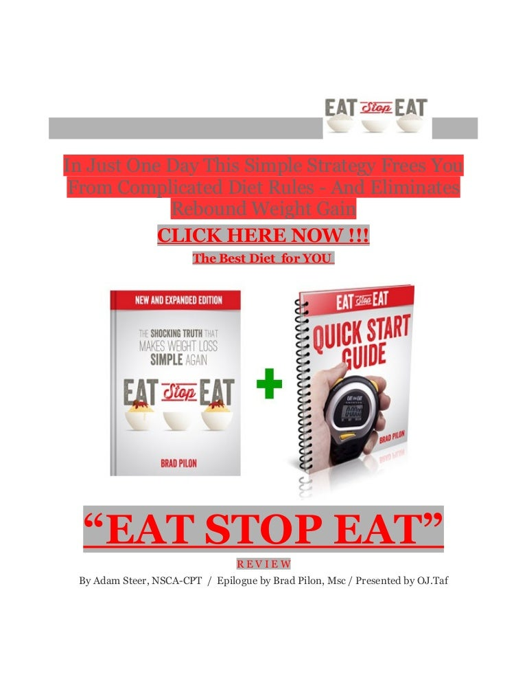 Eat Stop Eat Method Best Weight Loss Diet